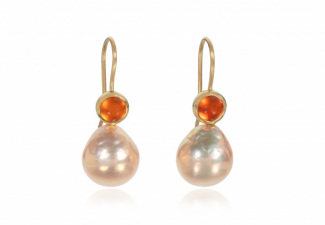 Natural colour pearl drops with fire opals1_SueLewis007