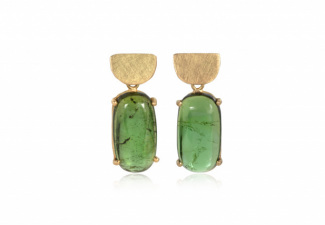Green tourmaline stud earrings.2_SueLewis009