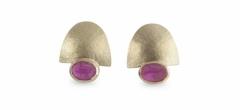 Natural, untreated Burmese rubies set in 18ct gold. Stud fittings.