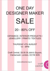 Craft Central Designer Maker Sale Event